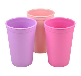 Re-Play Drinking Cups - 3 Pack - Purple, Bright Pink & Baby Pink