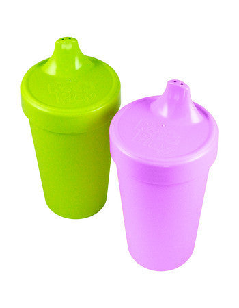 Re-Play Spill Proof Drinking Cups - 2 Pack - Purple & Green