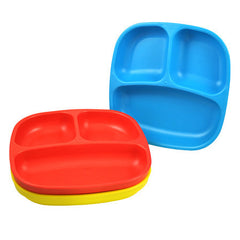 Re-Play Plates - 3 Pack - Sky Blue, Red & Yellow