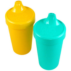 Re-Play Spill Proof Drinking Cups - 2 Pack - Aqua & Sunny Yellow