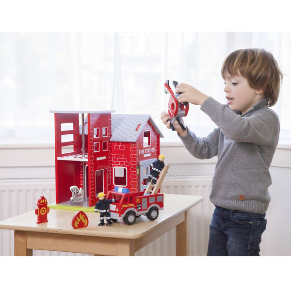 New Classic Toys - Large Fire Station - Eco Child