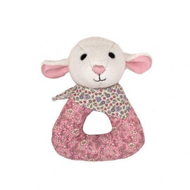 Apple Park - Lamby Patterned Soft Rattle - Eco Child