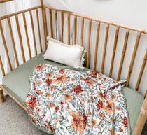 Pop Ya Tot - Le Piccadilly 100% Organic Cotton - Reversible Cot Quilt - Eco Child