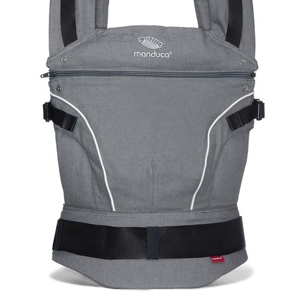 MANDUCA First - Pure Cotton Baby Carrier - Dark Grey - Eco Child