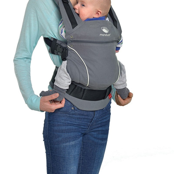 MANDUCA First - Pure Cotton Baby Carrier - Dark Grey