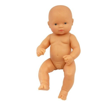 Miniland - Anatomically Correct Baby Doll - Caucasian Girl 32cm (Undressed) - Eco Child