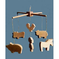 Goldfish Gifts - Natural Wooden Farmyard Mobile