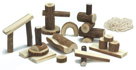 Gluckskafer - Natural Wooden Tree Blocks