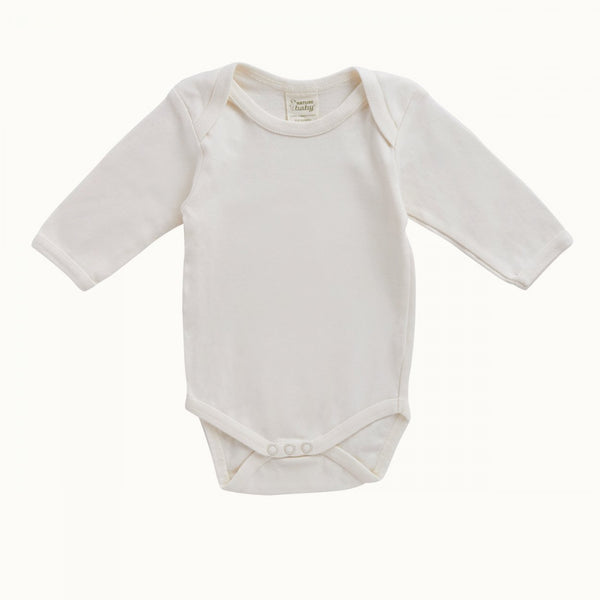 Nature Baby - Cotton Long Sleeve Bodysuit - Natural