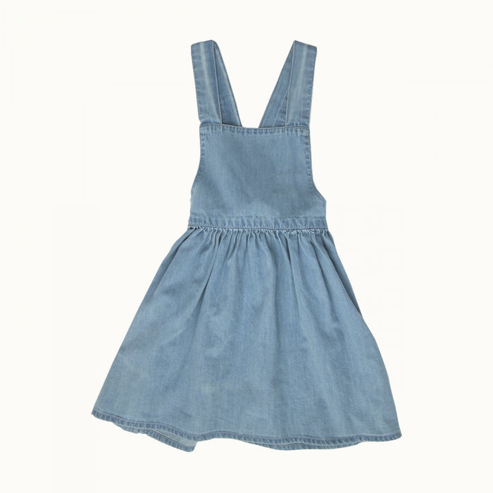 Nature Baby - Pinafore Chambray Dress - Sky