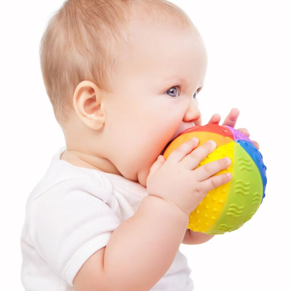 CaaOcho - 100% Natural Rubber - Rainbow Sensory Ball - Eco Child