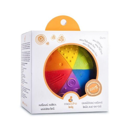 CaaOcho - 100% Natural Rubber - Rainbow Sensory Ball
