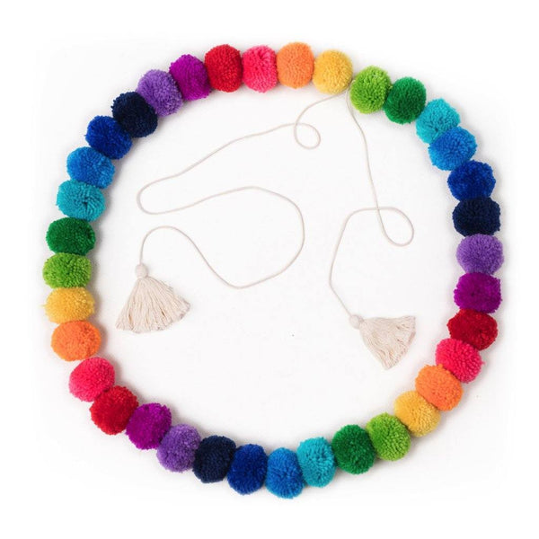 OB Designs - Handmade Pom Pom Garland - Rainbow - Eco Child