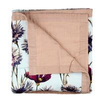 Pop Ya Tot - All About Aster 100% Organic Cotton - Reversible Cot Quilt - Eco Child