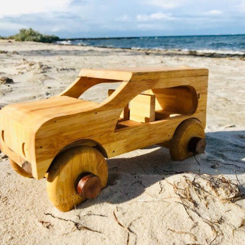 Qtoys -  Natural Wooden Car - Eco Child