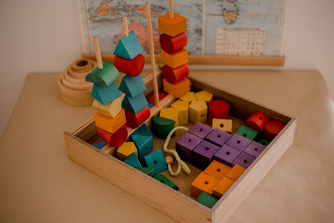 Qtoys -  Natural Wooden Sequencing Blocks - Eco Child