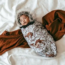 Pop Ya Tot - Creatures of the Woods Swaddle - Eco Child