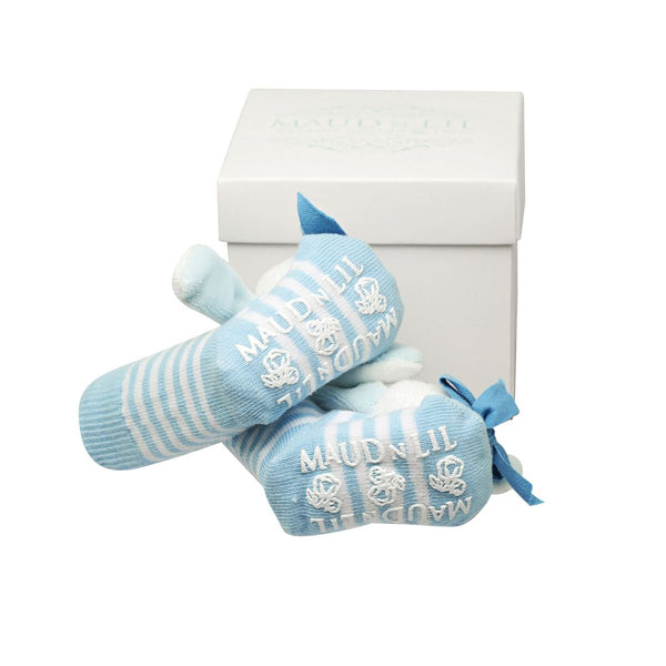 Maud n Lil - Oscar Boxed Rattle Socks - Eco Child