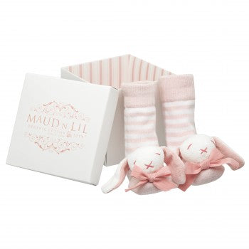 Maud n Lil - Rose Boxed Rattle Socks - Eco Child