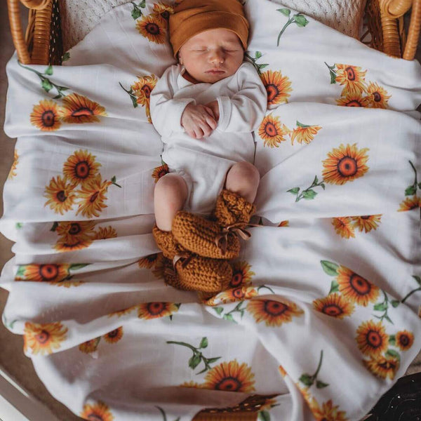 Snuggle Hunny Kids - Sunflower Organic Muslin Wrap - Eco Child