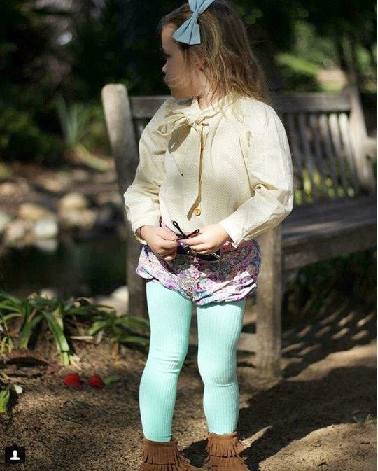 Little Legs - Ribbed Tights - Mint