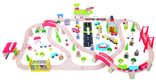 Bigjigs Toys - Transportation Train Set