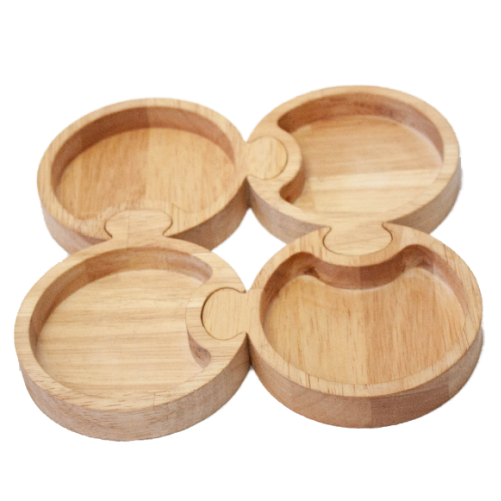 Qtoys -  Wooden Round Puzzled Tray - Eco Child