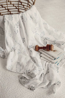 Snuggle Hunny Kids - Wild Fern Organic Muslin Wrap - Eco Child