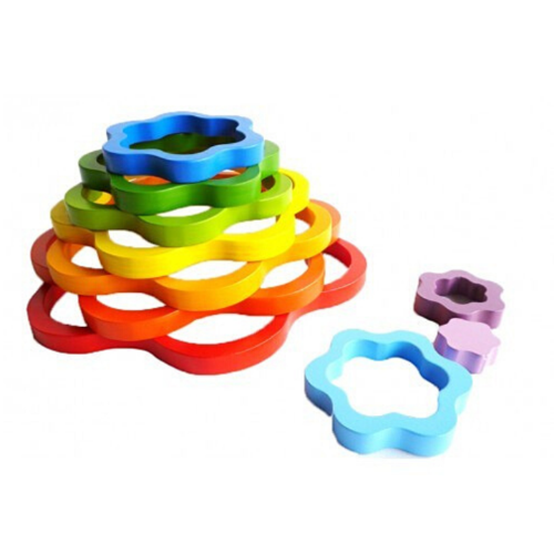 Qtoys -  Wooden Rainbow Flowers - Eco Child