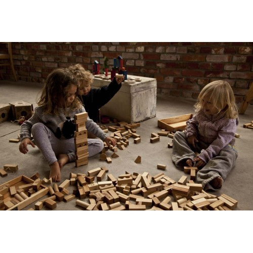 Wooden Story - Natural Blocks - 63 Pieces