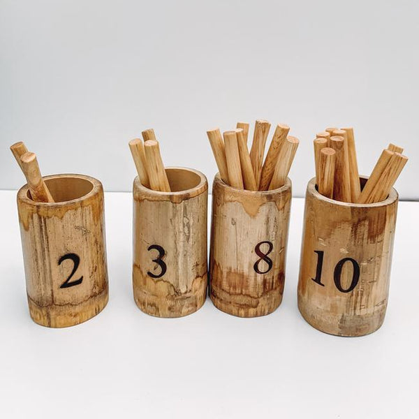 Qtoys -  Natural Bamboo Counting Set - Eco Child