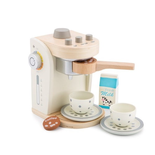 Wooden Coffee Machine - White - Eco Child