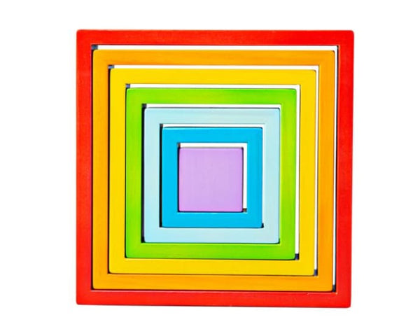 Bigjigs Toys - Wooden Stacking Squares - Eco Child