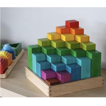 Qtoys - Wooden Rainbow Engineering Blocks - Eco Child