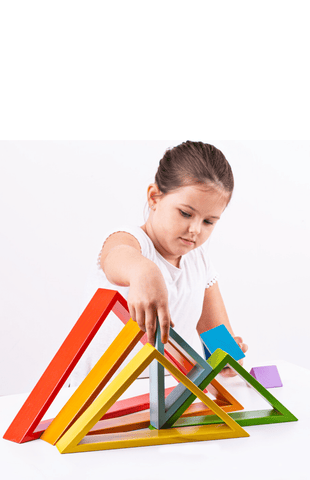 Bigjigs Toys - Wooden Stacking Triangles - Eco Child