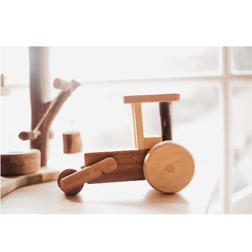 Qtoys -  Natural Timber Steam Roller - Eco Child