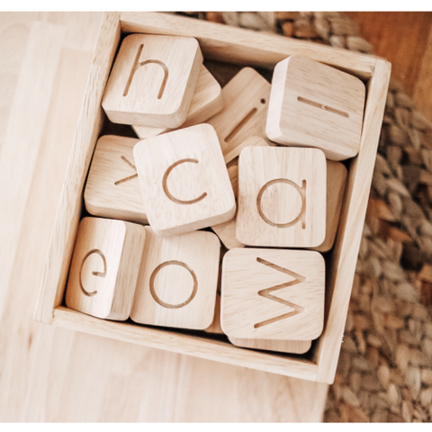 Qtoys -  Wooden Word Building Kit 40 - Eco Child