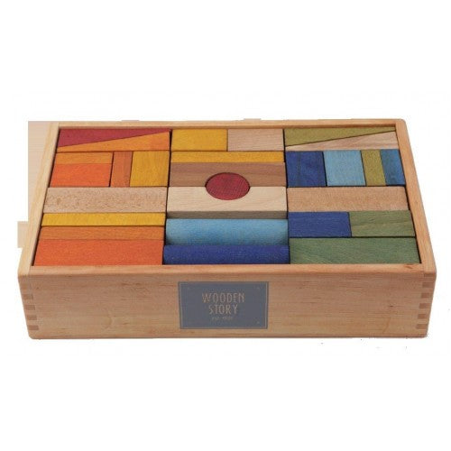 Wooden Story - Rainbow Blocks - 63 pieces