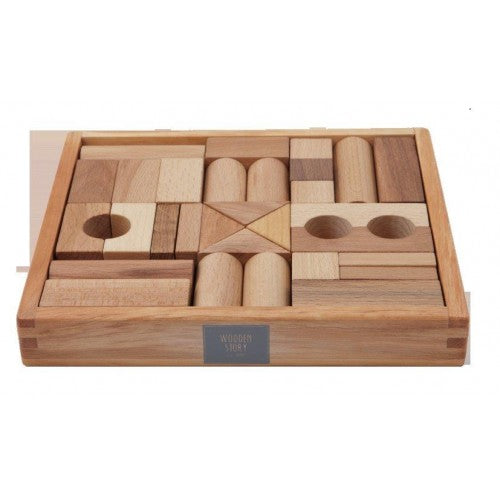 Wooden Story - Natural Blocks - 30 Pieces