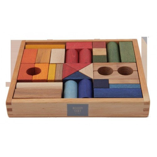 Wooden Story - Rainbow Blocks - 30 pieces