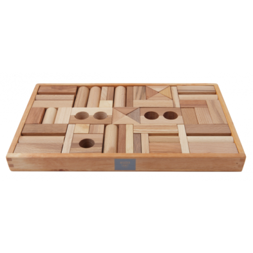 Wooden Story - Natural Blocks - 54 Pieces