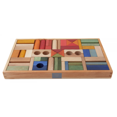 Wooden Story - Rainbow Blocks - 54 pieces