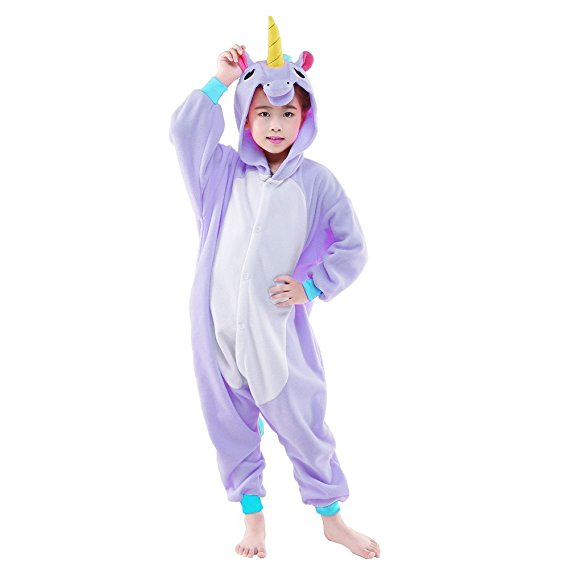 Kids Purple Pony Unicorn Onesie