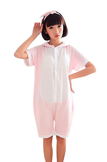 Pink Dinosaur Short Sleeve Onesie for Adults