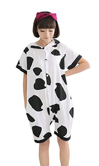 Cow Short Sleeve Onesie for Adults