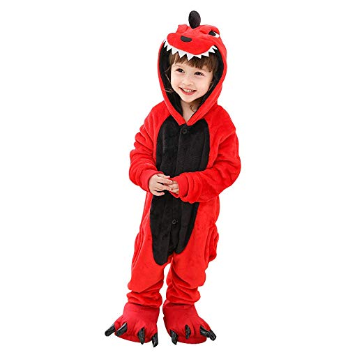 Red Dinosaur Onesie for Kids