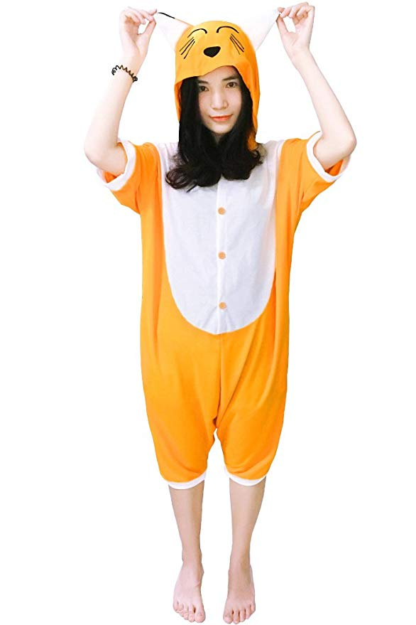 Fox Short Sleeve Onesie for Adults