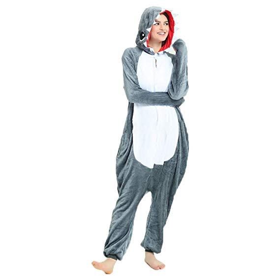 Grey Shark Onesie