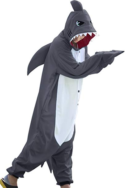 Dark Grey Shark Onesie