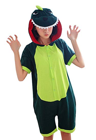 Dinosaur Short Sleeve Onesie for Adults